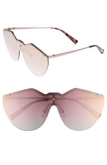 Le Specs 140Mm Shield Sunglasses - Rose