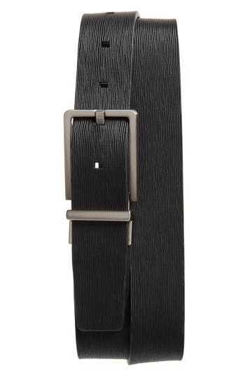 Calvin Klein Saffiano Leather Belt, Black