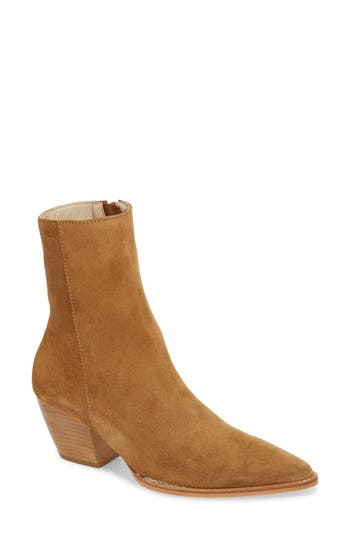 Matisse Caty Western Pointy Toe Bootie, Brown
