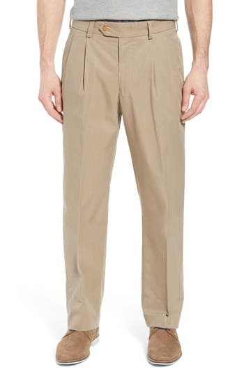 Big & Tall Bills Khakis M2 Classic Fit Pleated Travel Twill Pants, Beige