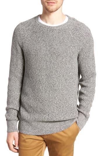 J.crew Marled Cotton Crewneck Sweater, Grey