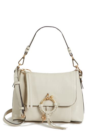 See By Chloe Small Joan Leather Shoulder Bag - White
