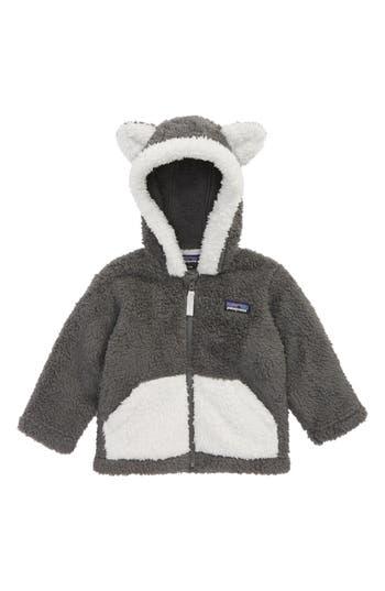 Infant Patagonia Furry Friends Fleece Hoodie, Grey