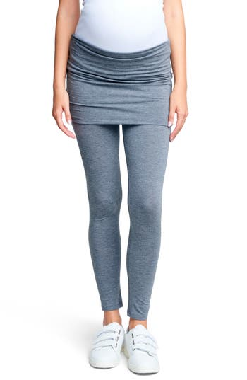 Maternal America Belly Support Maternity Leggings, Grey