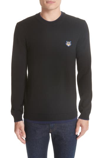 Kenzo Wool Blend Sweater, Black