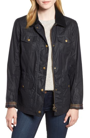 Barbour Waxed Trucker Jacket, US / 8 UK - Blue