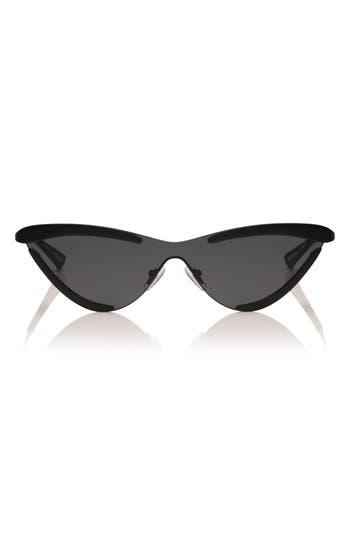 Adam Selman X Le Specs The Scandal 142Mm Cat Eye Sunglasses - Black Satin