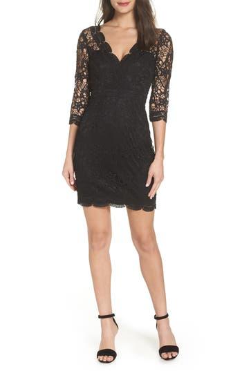 Lulus Lace Cocktail Dress, Black
