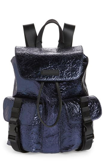 Kendall + Kylie Parker Metallic Water Resistant Backpack - Blue