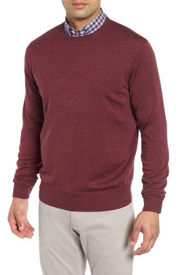 Peter Millar Crown Wool & Silk Sweater, Red