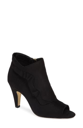Bella Vita Nicolette Ruffle Dress Bootie, Black