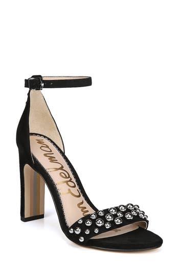 Sam Edelman Yoshi Studded Ankle Strap Sandal, Black