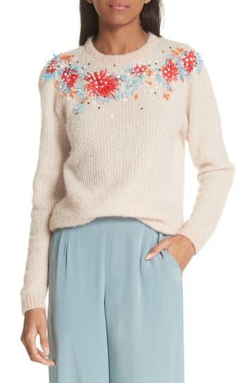 Rachel Comey Capture Embellished Alpaca & Merino Wool Blend Sweater, Pink