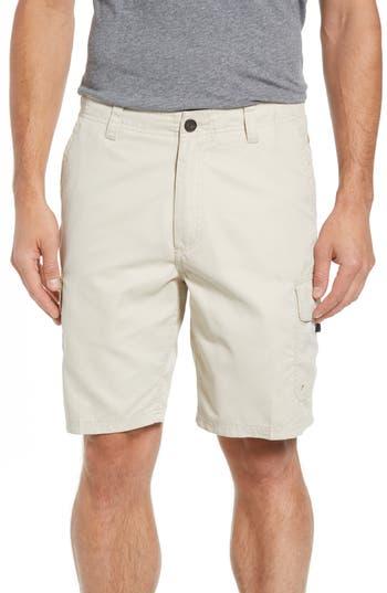 Quiksilver Waterman Collection Maldive Regular Fit Cargo Shorts, Grey