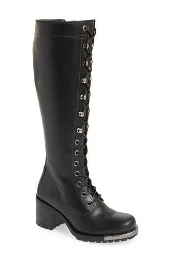 Fly London Lynt Knee High Boot - Black