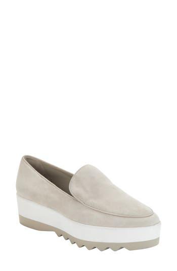 Donna Karan Platform Loafer, Light Grey