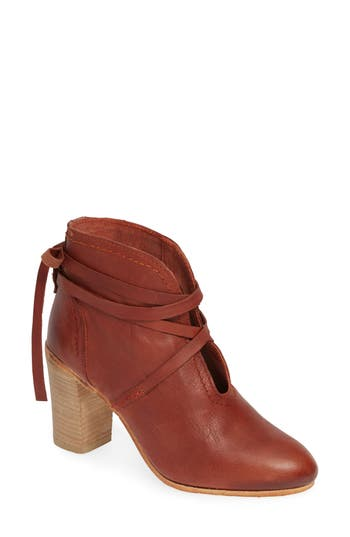 Free People Ankle Tie Bootie, Red