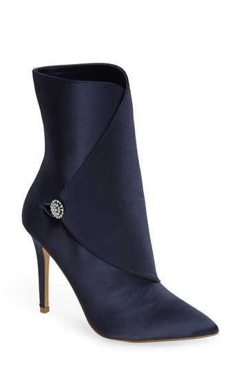 Charles By Charles David Pistol Crystal Embellished Pointy Toe Bootie, Blue