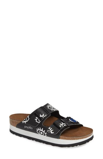 Birkenstock ARIZONA EYE GRAPHIC SLIDE SANDAL