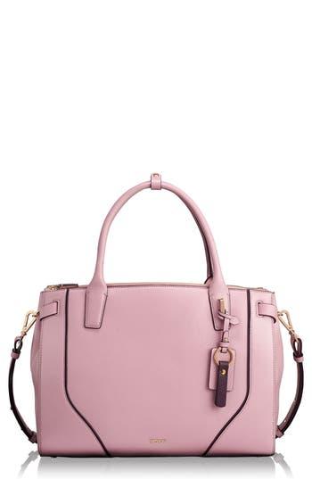 Stanton Kiran Leather Laptop Briefcase - Pink