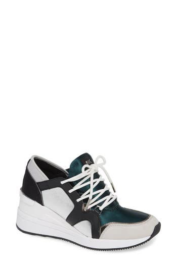 Scout Trainer Wedge Sneaker, Jewel Green