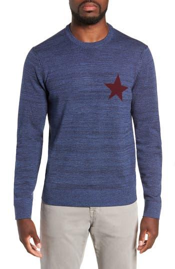 Michael Bastian Intaria Star Merino Wool Sweater, Blue