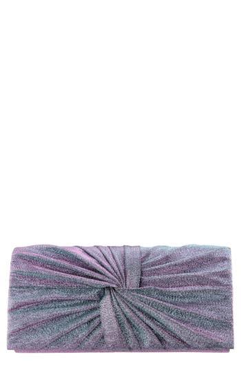 Metallic Knot Clutch - Blue, Blue Lilac