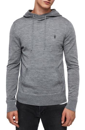 Allsaints Mode Merino Wool Hoodie, Grey