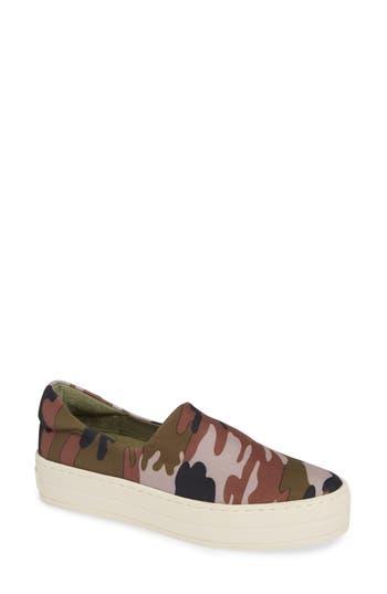 Jslides Harlow Slip-On Platform Sneaker, Green
