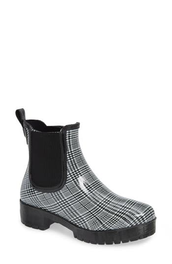 Jeffrey Campbell Cloudy Chelsea Rain Boot, White