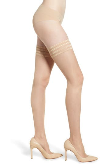 'Pure Matt 20' Stay-Up Stockings, Cocoon