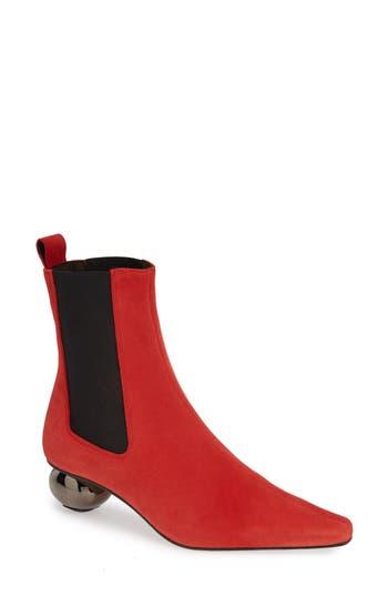 Topshop Magician Sculpt Heel Ankle Bootie- Red