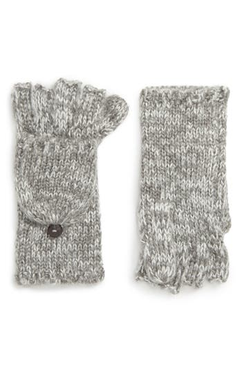 Rebecca Minkoff Subtle Mouline Pop Top Mittens, Size One Size - Grey