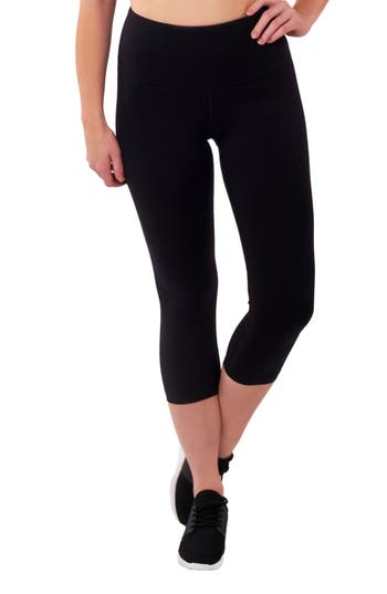 Lalabu High Waist Crop Postpartum Leggings, Black