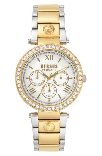 Camden Market Multifunction Bracelet Watch, 38Mm, Gold / Silver/ Gold