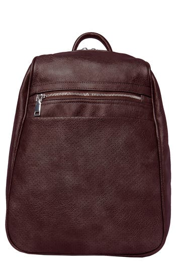 Dream On Vegan Leather Backpack - Burgundy, Berry