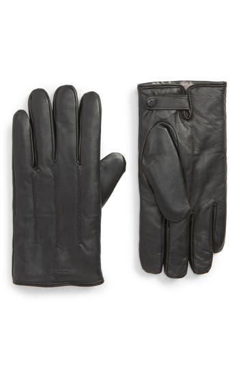 Ted Baker London Leather Gloves, Black