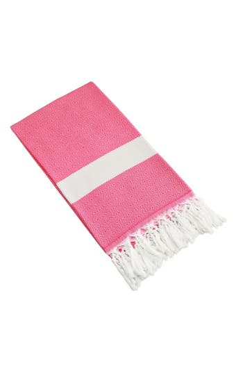 Linum Home Textiles 'Diamond' Turkish Pestemal Towel, Size One Size - Pink