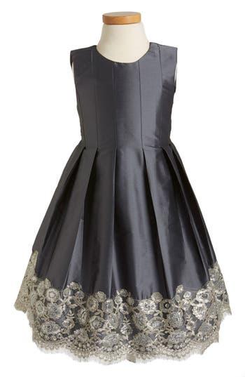 Toddler Girl's Isabel Garreton Floral Lace Pleated Dress