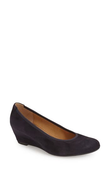 Women's Gabor Sacchetto Wedge Pump, Size 9.5 M - Blue
