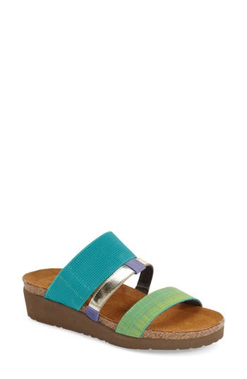 Women's Naot 'Brenda' Slip-On Sandal, Size 5US / 36EU - Blue