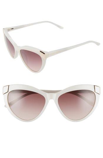 Unique Retro Vintage Style Sunglasses & Eyeglasses Womens Ted Baker London 57Mm Cat Eye Sunglasses - White Ivory $149.00 AT vintagedancer.com