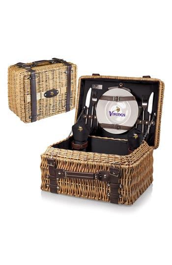 Picnic Time 'Nfl - Champion' Wicker Picnic Basket, Size One Size - Black
