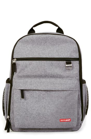 Infant Skip Hop 'Duo Signature' Diaper Backpack - Grey