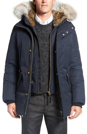Men's Mackage 'Edward' Down Parka With Genuine Coyote And Rabbit Fur Trim