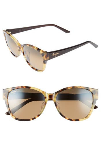 Women's Maui Jim Summer Time 54Mm Polarizedplus2 Cat Eye Sunglasses - Tokyo Tortoise/ Hcl Bronze