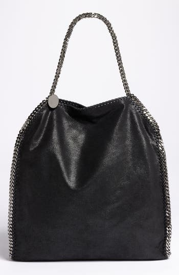 Stella Mccartney 'Large Falabella - Shaggy Deer' Faux Leather Tote - Grey