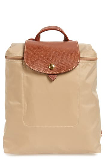 Longchamp 'Le Pliage' Backpack - Beige