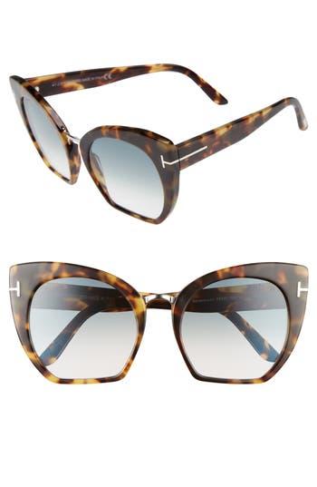 Tom Ford Samantha 55Mm Sunglasses - Havana/ Gradient Blue