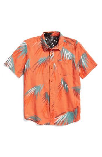 Boy's Volcom Maui Palm Shirt